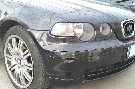 Rascon de un BMW en el paragolpes